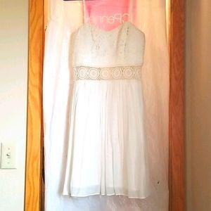 BCX White Lace Mini Dress